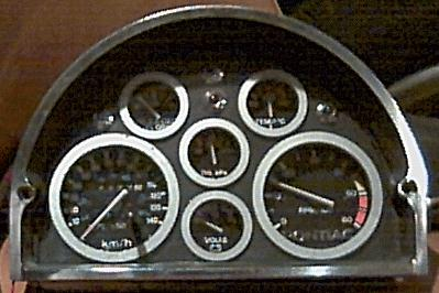 front of gauges